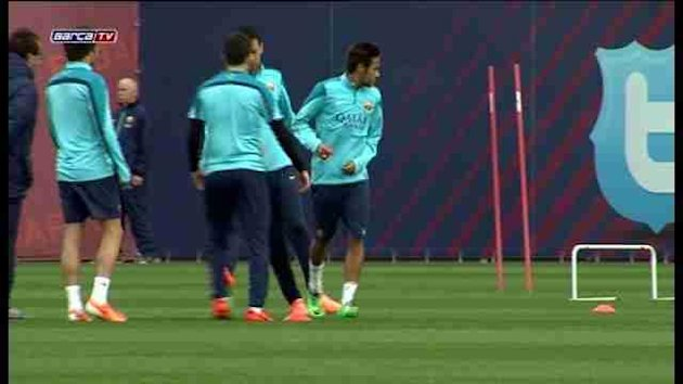 Neymar begins training with Barcelona squad