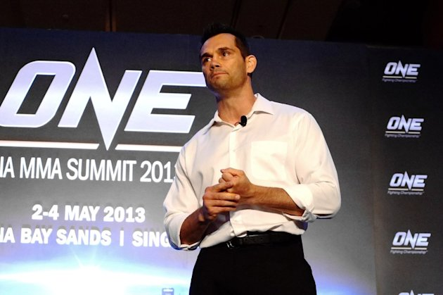 Rich Franklin giving a seminar at last year's ONE Asia MMA Summit by ONE FC.