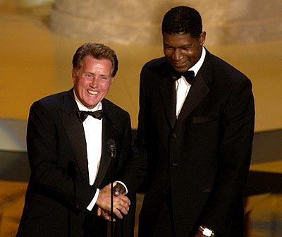 Martin Sheen and Dennis Haysbert Emmy Awards - 9/22/2002