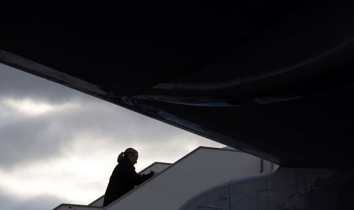 US Secretary of State Hillary Clinton departs Prague during a 6-day trip to Europe. US Secretary of State Hillary Clinton on Monday warned the regime of Bashar al-Assad against any bid to unleash chemical weapons on the Syrian people, signalling that the United States would be prepared to take unspecified action