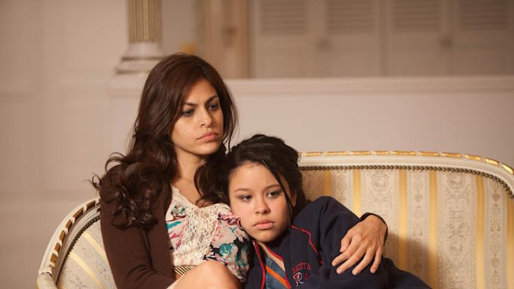 "In this film image released by Pantelion Films, Eva Mendes, left, and Cierra Ramirez are shown in a scene from ""Girl in Progress."" (AP Photo/Pantelion Films, Bob Akester)"