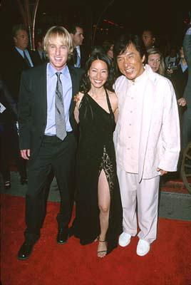 Owen Wilson , Lucy Liu and Jackie Chan at the Hollywood premiere of Touchstone's Shanghai Noon