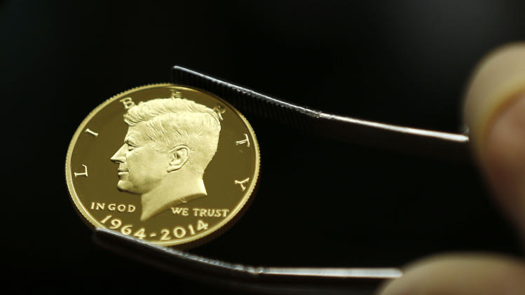 is examined at the U.S. Mint at West Point on Tuesday, July 22, 2014