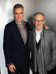 "Actor Daniel Day-Lewis and director Steven Spielberg arrive for a screening of ""Lincoln"" at the AFI Fest in Hollywood on November 8, 2012. Spielberg will be hoping to fare better with ""Lincoln"" than he did with last year's epic ""War Horse,"" which was nominated for six Oscars and two Globes but went home empty-handed"