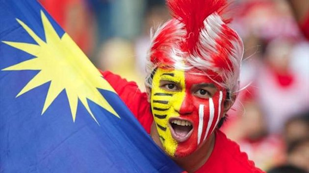 Malaysian fan and flag