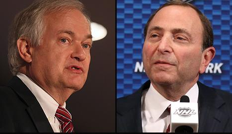 NHL Players' Association (NHLPA) executive director Don Fehr and NHL commissioner Gary Bettman