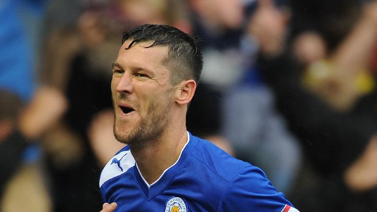 David Nugent opened the scoring in a routine victory for Leicester