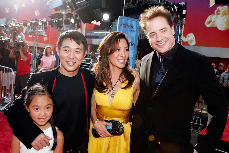The Mummy Tomb of the Dragon Emperor Premiere 2008 Jet Li Michelle Yeoh Brendan Fraser