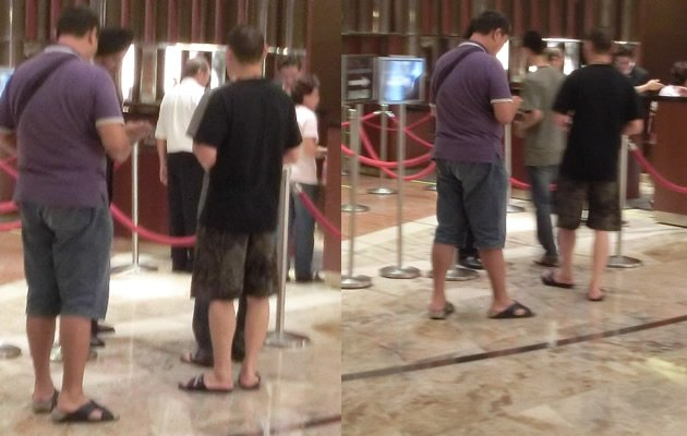 Ratty sandals and bermudas also make the cut at MBS (Yahoo! Photos)