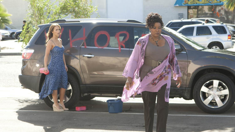 "Jennifer Love Hewitt as Riley Parks and Loretta Devine as Georgia in ""The Client List."""