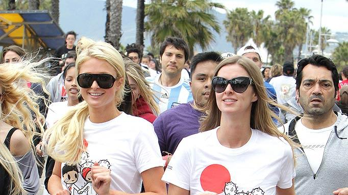 Paris Nicky Hilton R Ed Cross Run