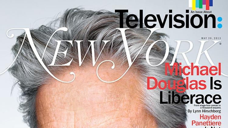 "Michael Douglas on the cover of ""New York Magazine."""