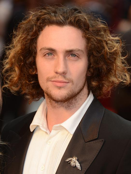 Aaron Johnson at the UK Premiere of 'Anna Karenina'.
