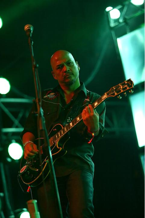 Pixies perform at the 2014 Coachella Music and Arts Festival on Saturday, April 19, 2014, in Indio, Calif. (Photo by Zach Cordner/Invision/AP)