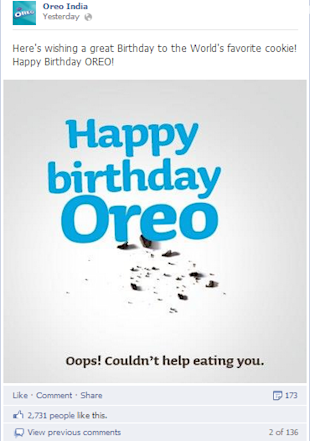 Brands Wish Oreo a Happy 101st Birthday As Indian Brands Look On image Oreo India Facebook