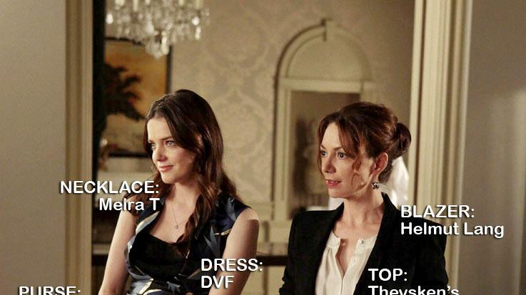 "Roxane Mesquida as Beatrice Grimaldi and Joanne Whalley as Princess Sophie Grimaldi in the Season 5 episode ""The Fasting and the Furious."" Gossip Girl"