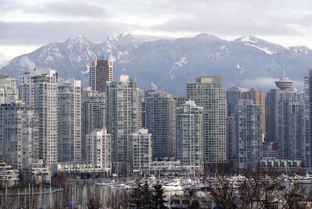 This file photo shows Vancouver skyline, pictured in 2009. (AFP Photo/Don Emmert)