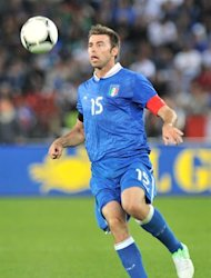 Italy's Andrea Barzagli during their friendly game preparation to the EURO 2012 on June 1, 2012 in Zurich. AFP PHOTO / SEBASTIEN FEVAL