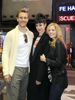 James Van der Beek, Dreama Walker, Krysten Ritter seen filming 'Don't Trust That B**** In Apt 23' in New York City on October 23, 2012  -- Getty Premium