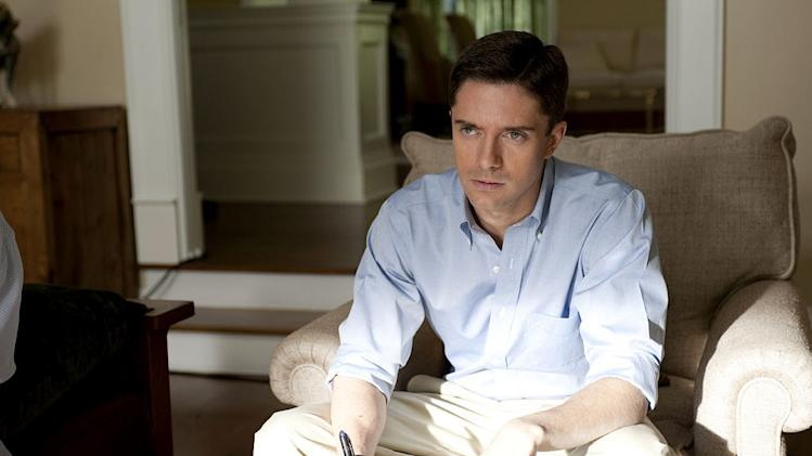 "Topher Grace stars as Jim Wilkinson in ""Too Big to Fail."""