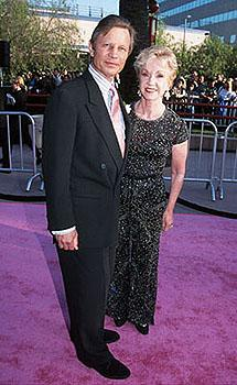 Michael York (Basil Exposition) and his wife Pat at the Los Angeles premiere for Austin Powers: The Spy Who Shagged Me Photo by Jeff Vespa/Wireimage.com