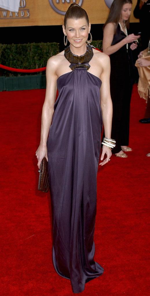 Ellen Pompeo at the 13th Annual Screen Actors Guild Awards.