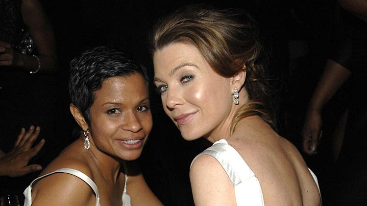 Keisha Chambers and Ellen Pompeo at the In Style and Warner Bros. 2007 Golden Globe After Party.