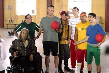 Rip Torn , Stephen Root , Vince Vaughn , Alan Tudyk , Joel Moore , Christopher Williams and Justin Long in 20th Century Fox's Dodgeball: A True Underdog Story