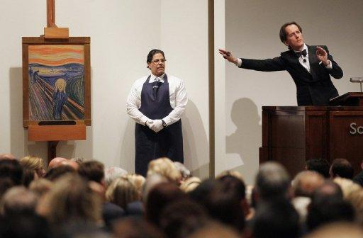 Edvard Munch's 'The Scream' is auctioned at Sotheby's