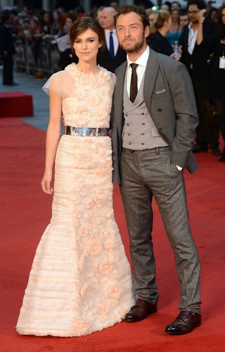Keira Knightley and Jude Law at the UK Premiere of 'Anna Karenina'.