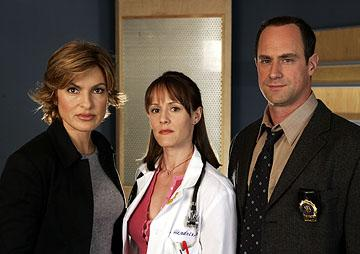 "Mariska Hargitay as Detective Olivia Benson, Mary Stuart Masterson as Dr. Rebecca Hendrix and Christopher Meloni as Detective Elliot Stabler NBC's""Law and Order: Special Victims Unit"" <a href=""/baselineshow/4728792"">Law & Order: Special Victims Unit</a>"