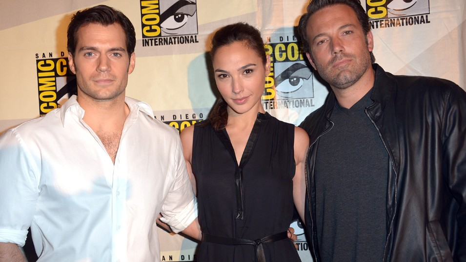 Henry Cavill, Gal Gadot, and Ben Affleck