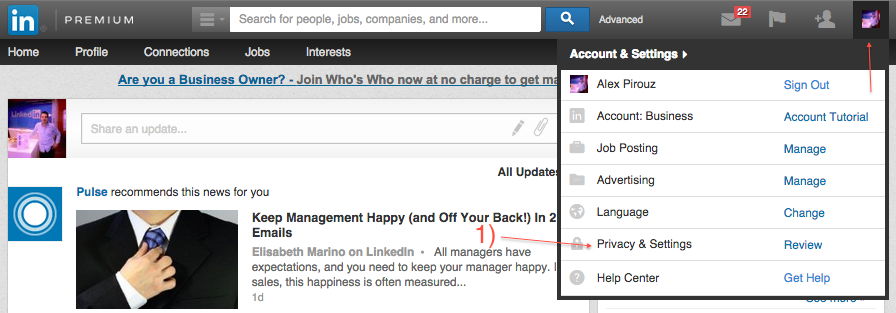 LinkedIn Privacy & Settings