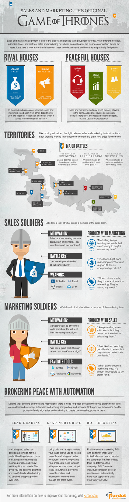 Sales vs. Marketing: The Original Game of Thrones [#INFOGRAPHIC] - An Infographic from Pardot