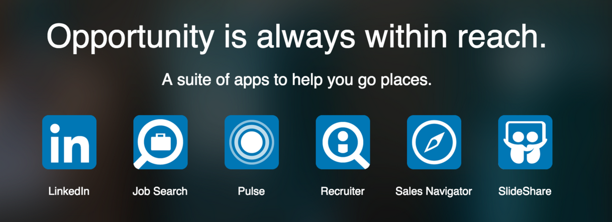 LinkedIn suite of apps