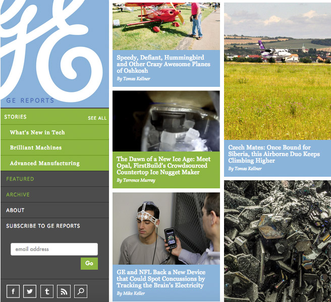 2 General Electric Blog Screenshot