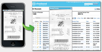 The Shoeboxed app helps you clear the clutter by capturing receipt images and organizing them in one location.