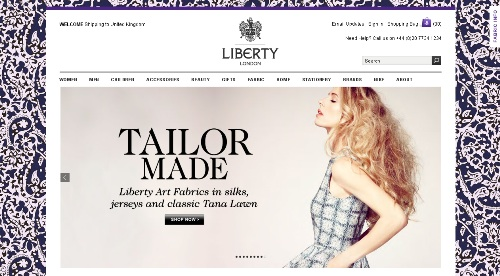 How To Improve The Ecommerce Experience In 2015 image 11 ecommerce website libertylondon.jpg