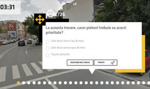 In Romania, learner drivers practice theory on Google Street View