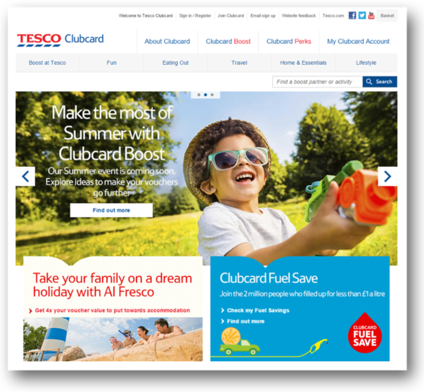 Tesco's summer events and club card special services are well known by customers who know in advance that something will go on during the hot days.