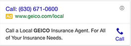 google call-only ads