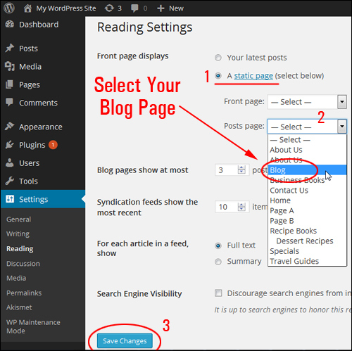 How To Create A Blog Page To Display Your WordPress Posts
