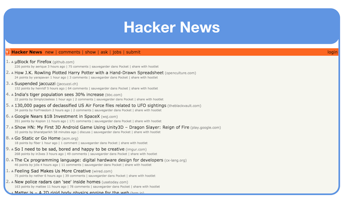 get landing page feedback on hacker news