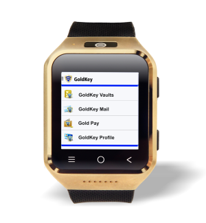 GoldKey Secure Communicator To Debut As Stand Alone Wearable Smartphone At CES 2015 image Goldkey Apps Watch