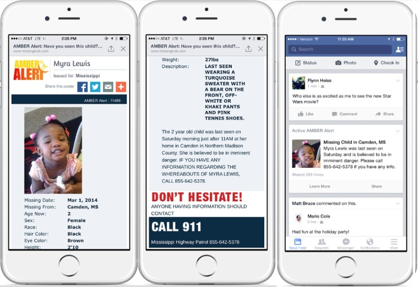 Facebook's Amber Alerts will place missing children in your newsfeed -- current and accurate.