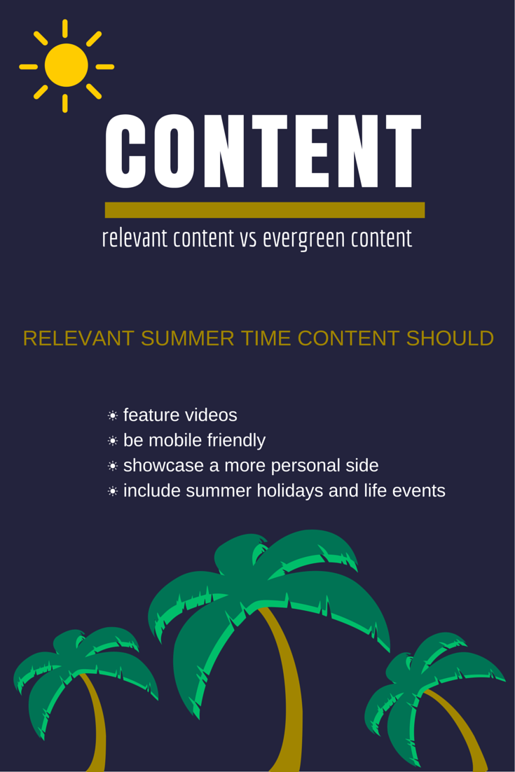 Relevant summer time content ideas