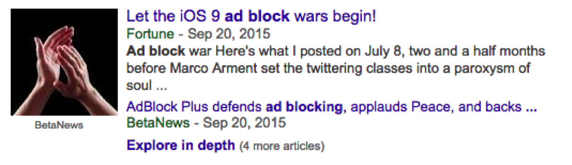 mobile ad blocking headlines