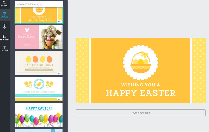 canva easter