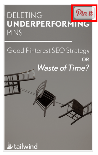 Add a pin-it pop up to your email newsletters