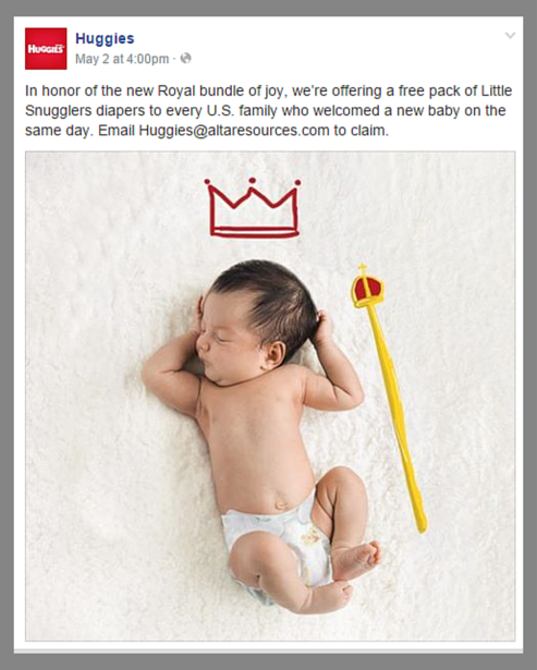 Huggies and the royal baby